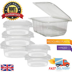 High Quality Clear Disposable Food & Salad Storage Containers | Multi Size 🔥🔥