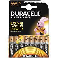 8 Duracell AAA Plus Power Duralock Alkaline Batterien Zelle LR03
