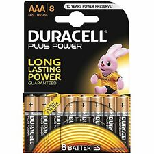 8 DURACELL AAA Duralock Power Plus Alcaline Cella LR03 non ricaricabile