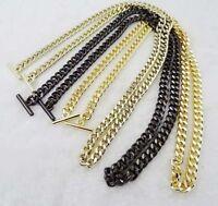 20-120 CM OT Buckle Flat Chain For Handbag Or Shoulder Strap Bag Purse #56