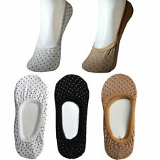 3 Pairs Ladies Invisible Socks Trainer Shoe Liner Black White Sock Size 3-6