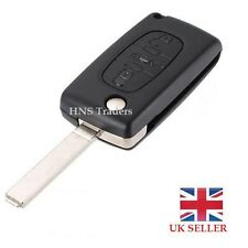 for Peugeot 107 207 307 407 308 407 607 3 Button FOB  Key Uncut Blade + LOGO A30