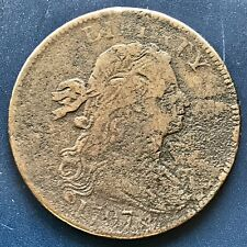 1797 Large Cent Draped Bust One Cent 1c Rare Date S-141 Nice Coin #8722