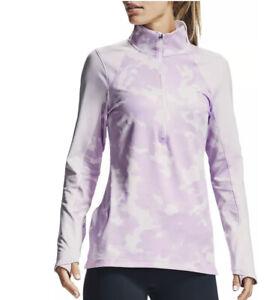 Under Armour UA 1/2 Zip Camo ColdGear Top Long Sleeve Shirt MSRP $65 NEW