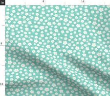 New listing Turquoise Aqua Sakura Florals Japanese Garden Spoonflower Fabric by the Yard