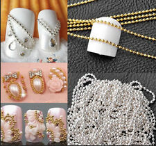 1M Nail Art Tip Glitter Streifen Tape Kleine Ball Perlen Kette Linie DekoraPPTY