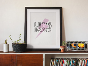David Bowie - Lets Dance wall art print - quote print