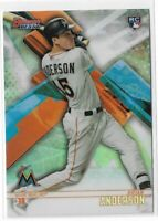 2018 Bowman's best baseball #62 Brian Anderson rookie refractor RC Miami Marlins