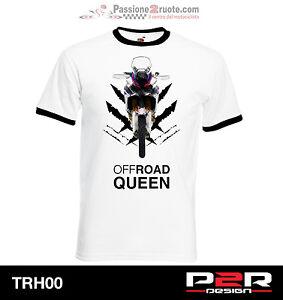 T-Shirt Africa Twin S M L XL 2XL Motorcycle Tshirt Ringer Link TRH00