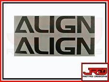 2 x Align Logo Vinyl Stickers in Black