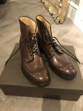 *RARE* Lace Up Brogue Leather CHURCH'S Twiston Burnt Leather Boots 8.5