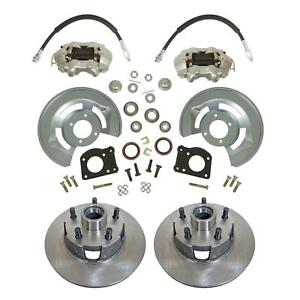 """1964-73 Ford Mustang Front Disc Brake Conversion Kit, Drum-Disc 11.25"""" Rotors"""