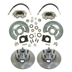 "1964-73 Ford Mustang Front Disc Brake Conversion Kit, Drum-Disc 11"" Rotors"