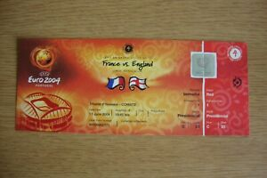 Euro 2004 1st Round Match 4 France v England Complete VIP Ticket  MINT CONDITION