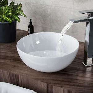 Small Round Counter Top Basin Bowl Cloakroom Vanities Bathroom Wash Sink Ceramic