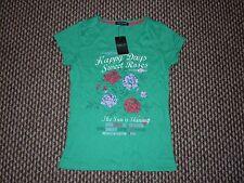 Hang Ten Verde T-shirt taglia M Nuovo con etichette