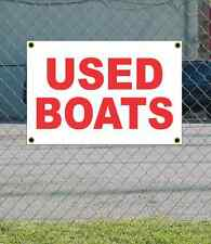 2x3 USED BOATS Red & White Banner Sign NEW Discount Size & Price FREE SHIP