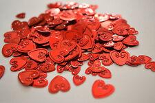 Rojo confeti corazones Dispersarse Mesa decoraciones. IDEAL forweddings,