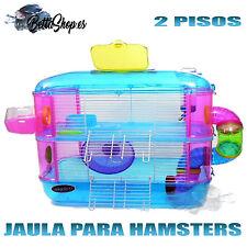 JAULAS PARA HAMSTERS JAULAS DE HAMSTERS JAULA HAMSTER 2 PISOS ROEDORES RATONES