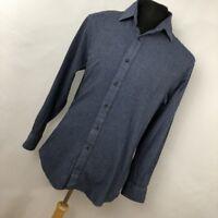 Charles Tyrwhitt M Medium Shirt Blue Button Down Front Classic FIt Mens L/S J4