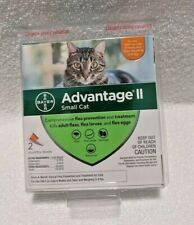 BrandNew Sealed Bayer Advantage Ii Flea & Lice Control Small Cats 5-9lbs 2 Doses