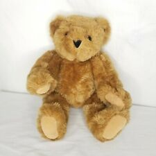 "Vermont Teddy Bear Jointed No 1 Honey Brown Glass Eyes 15"" Excellent Condition"