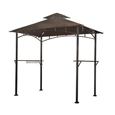 Sunjoy L-GG001PST-F 8′ x 5′ Soft Top Grill Gazebo with 4pcs LED