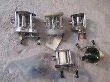 5 Vintage Fishing Reels.Shakespeare,Plueger ,South Bend,Bal Cli-23, Edward Small.