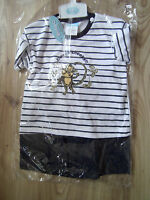 BABY BOY T-SHIRT TOP SHORTS 2 PIECE GIFT SET MONKEY OUTFIT 6-12 months BLACK
