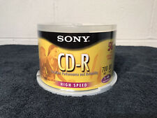 50 Pack Sony CD-R High Speed 700MB 80 min 1x-48x NEW SEALED PACKAGING