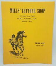 1964 Mill's Cuir Boutique Prix Liste Et Catalogue - Selles Pièces & Toilettage D