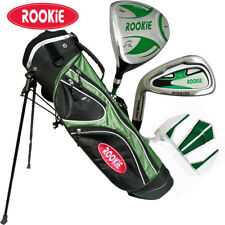 JUNIOR LH GOLF SET GREEN 4 PCE for KIDS 7 to 10yrs with MATCHING GOLF STAND BAG