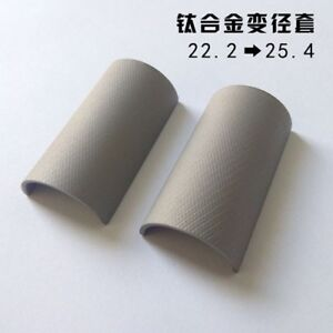 22.2-25.4mm Titanium Alloy Bike Handlebar Stem Reduction Sleeve Shim Mat Adapter