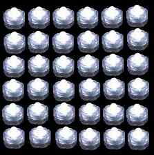 Qty 36 White Led Submersible Tea lights for Wedding Centerpiece Decor