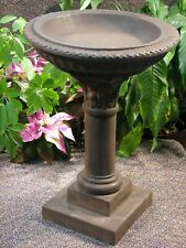 Cast Stone Cement Regency Birdbath Statue Concrete Outdoor Garden Decor Statuary