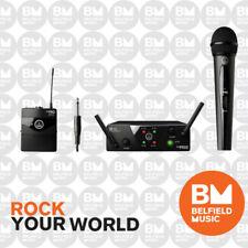 AKG WMS40 Mini Wireless Mic System Dual Handheld Vocal + Instrument Set Band A/C