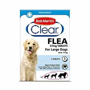 Bob Martin Clear   Flea Tablets for Large Dogs (11kg+)   Effective Treatment, Ki