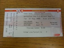 23/08/2005 Ticket: Rotherham United v Port Vale  (complete). If this item has an