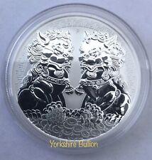2020 1 oz Australian Guardian Lions Double Pixiu Silver Coin