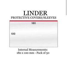Lindner PROTECTIVE COVERS/SLEEVES Banknote plastic sleeve  (Germany) 180mm x 100