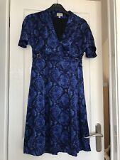 Karen Millen Blue And Black Moasic Dress Size 12