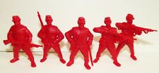 Russian toy soldiers. Tehnolog. Russians infantry. Red color. 1/35 or 1/32