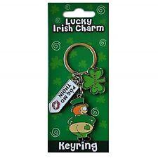 Lucky Irish Charm Cheeky Leprechaun Pog Mo Thoin Metal Keyring  (sg 3824)