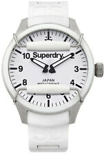 SUPERDRY 2017 Super G Scuba White Diving Watch Lens Guard Silicone Strap SALE!