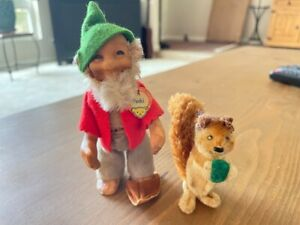 Steiff 1950's Gnome Pucki with name tag and Possible Steiff Squirrel