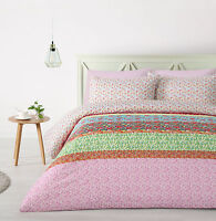 New Cassia Pink Floral Quilt Doona Cover Set - Single Double Queen King