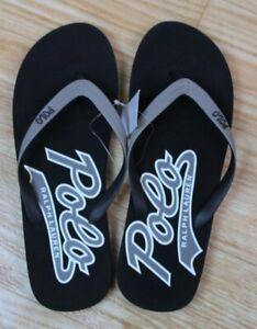 Men's Ralph Lauren POLO Flip Flop~ Gray And Black~ NWT