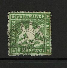 Wurttemberg Sc# 21, Used, toned, lg page remnant (95%) - S8688