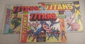 marvel comics the titans 1975 no 1, 2 and 3 - the titans 1975 x3