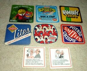 Collectable beer coasters: Set of 8 assorted crisp - related coasters